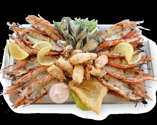 Πιατέλα Island Basket για 2 με γαρίδες, καλαμαρακι τηγανιτο, μύδια, φιλετο ψαριου