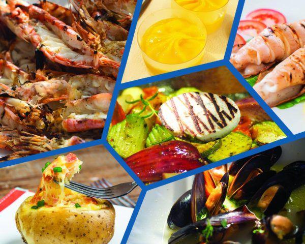 Μενού Νο 3 Ψαροταβέρνας Island Basket στην Αρτέμιδα - Σαλάτα, Ορεκτικά, Γαρίδες Ψητές & Καλαμάρι Ψητό, Γλυκό ή Παγωτό