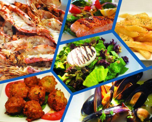 Μενού Νο 1 Ψαροταβέρνας Island Basket στην Αρτέμιδα - Σαλάτα, Ορεκτικά, Γαρίδες Ψητές & Σολωμός Ψητός, Γλυκό ή Παγωτό