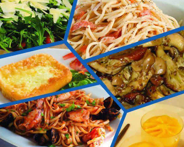 Μενού Νο 2 Ψαροταβέρνας Island Basket στην Αρτέμιδα (Λούτσα) - Σαλάτα, Ορεκτικά, Λιγκουίνι Θαλασσινών (Γαρίδες, Καλαμάρι, Μύδια, Χταπόδι) & Σπαγγέτι με Καπνιστό Σολωμό, Γλυκό ή Παγωτό